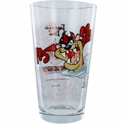 Looney Tunes Taz Cyclone Pint Glass