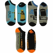 Doctor Who TARDIS Dalek Driver 3 Pair Socks Set