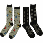 Doctor Who Logos Daleks 2 Pair Socks Set