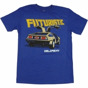 DeLorean Futuristic T Shirt Sheer
