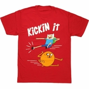 Adventure Time Kickin It T Shirt