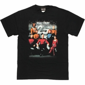 Star Trek Next Generation 25 Cast T Shirt