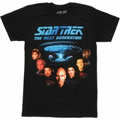 Star Trek Next Generation V Cast T Shirt Sheer