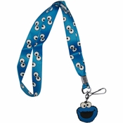 Sesame Street Cookie Monster Eyes Charm Lanyard