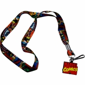 Marvel Comic Collage Charm Lanyard