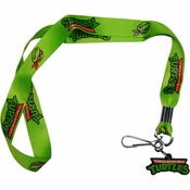 Ninja Turtles Logo Faces Charm Lanyard