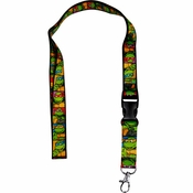 Ninja Turtles Stacked Lanyard