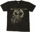 Punisher Cracked Skull T Shirt Sheer