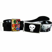Punisher Skull Comic Mesh Belt