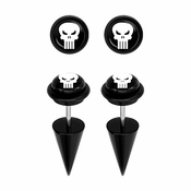 Punisher Faux Taper Earrings