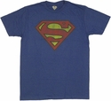 Superman Vintage Distressed T-Shirt Sheer