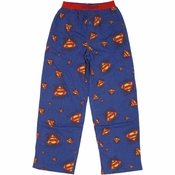 Superman Logo Collage Pajama Pants
