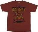 Iron Man Junk Food Shirt
