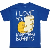 Adventure Time Everything Burrito T Shirt