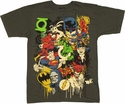 Justice League Collage T Shirt