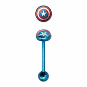Captain America Blue Barbell
