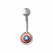 Captain America Belly Ring