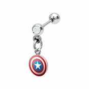 Captain America Cartilage Earring