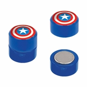 Captain America Faux Plug Magnetic Earrings