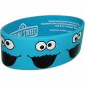 Sesame Street Cookie Monster Faces Rubber Wristband