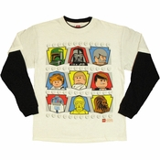 Star Wars Lego Heads Long Sleeve Youth T Shirt