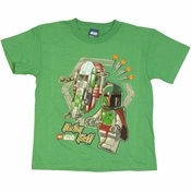 Star Wars Lego Fett Ship Youth T Shirt