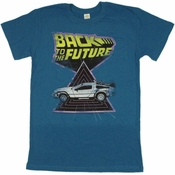 Back to the Future Triangle T Shirt Sheer