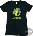 Battlestar Galactica Yellow Flower Baby Tee