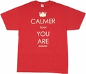 Big Lebowski Calmer T Shirt Sheer
