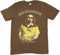 Big Lebowski Dudeness T Shirt Sheer