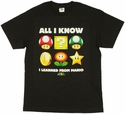 Mario Learned T Shirt