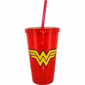 Wonder Woman Plastic Travel Cup
