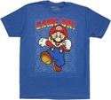 Mario Game On T Shirt
