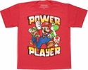 Mario Power Player Youth T Shirt