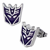 Transformers Decepticon Stud Earrings