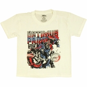 Transformers Optimus Armed Ready Juvenile T Shirt