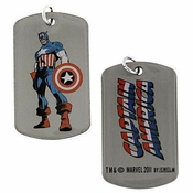 Captain America Stand Dog Tag