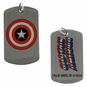 Captain America Shield Single Dog Tag