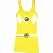 Power Rangers Yellow Costume Tank Top Dress