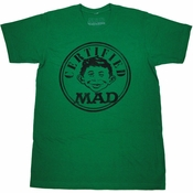 Mad Magazine Certified T Shirt Sheer