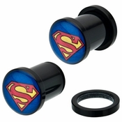 Superman Acrylic Plugs