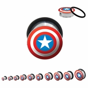 Captain America Steel Plugs