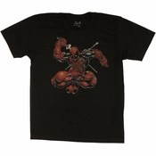Deadpool Leaping T Shirt Sheer