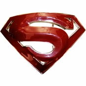 Superman Returns Dark Red Belt Buckle