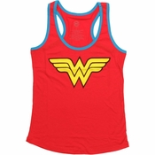 Wonder Woman Logo Ringer Tank Top Baby Tee