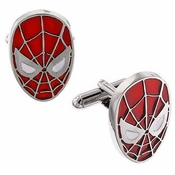 Spiderman Head Cufflinks