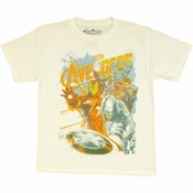 Avengers Movie Watercolor Youth T Shirt