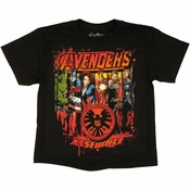 Avengers Movie SHIELD Squad Youth T Shirt