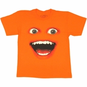 Annoying Orange Face Youth T Shirt