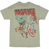 Avengers Retro Assemble T Shirt